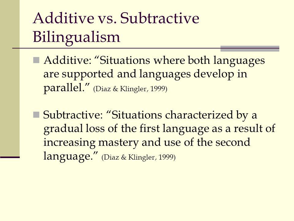 Additive vs.