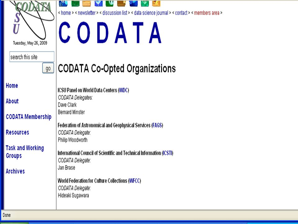 5/29/2009 IASSIST and CODATA 22