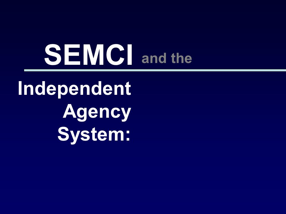 Independent Agency System: SEMCI and the