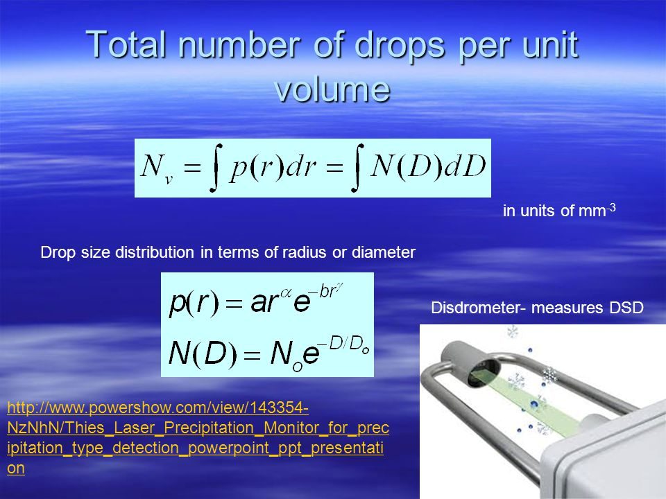 Volume Scattering Two assumptions: Two assumptions: –particles randomly distributed in volume-- incoherent scattering theory. –Concentration is small-