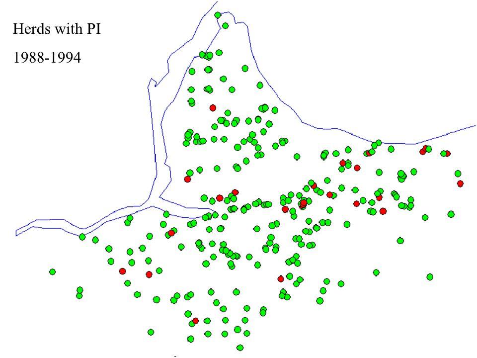 Milking Herds Infected 2000