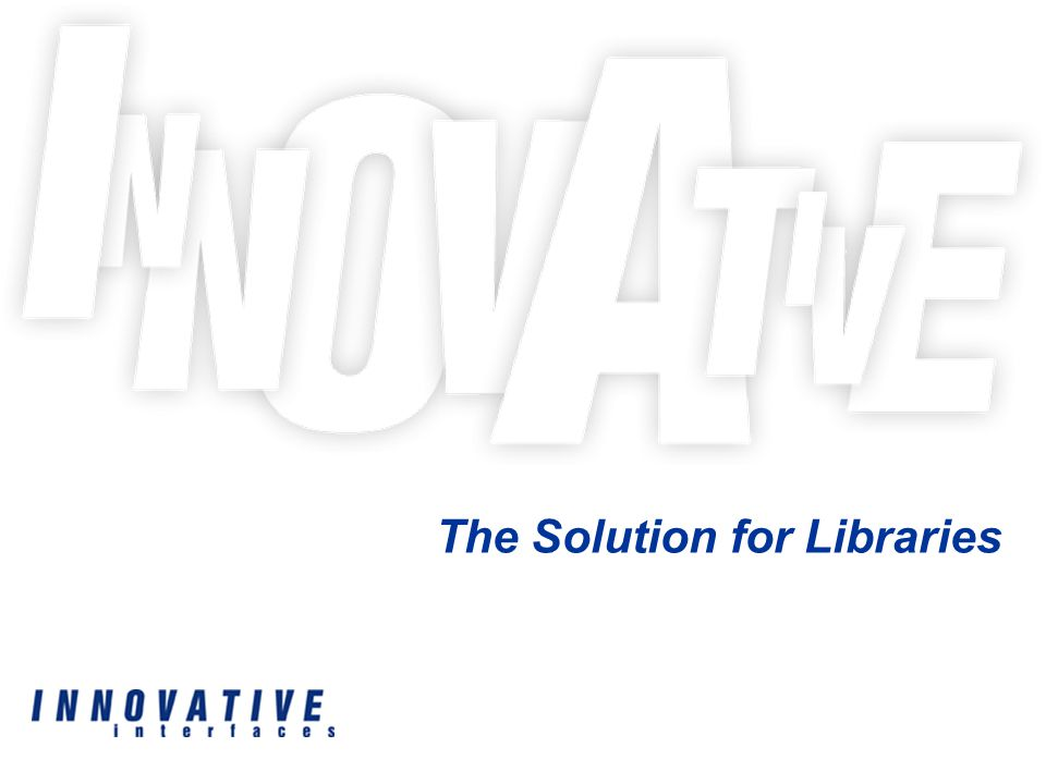 The Solution for Libraries