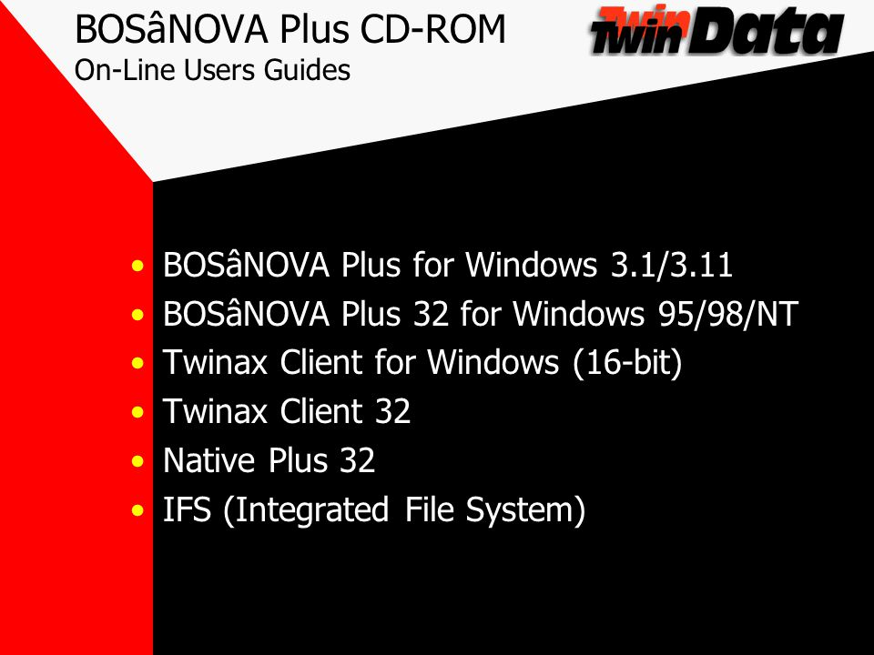 BOSâNOVA - Advantages Over Client Access QWhat OS/400 Version Are You Running.