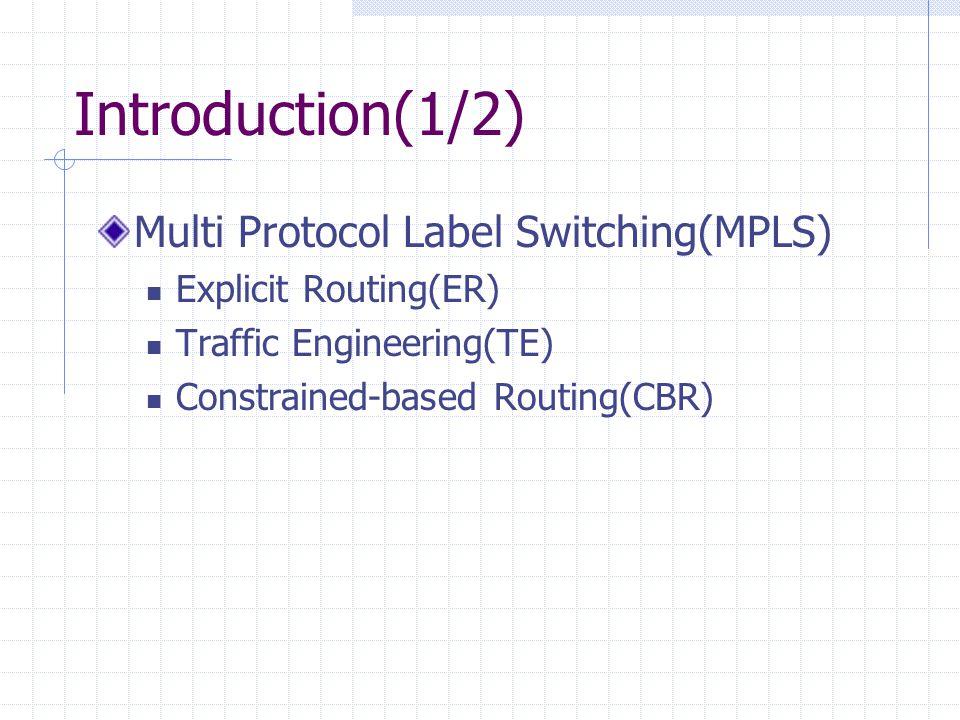 Introduction(2/2) Multipath forwarding Multipath establishment Load distribution Link-state acquirement