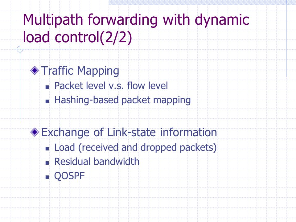 Load Control with Dynamic Network State The goal is to minimize the number of congested links and idle links.