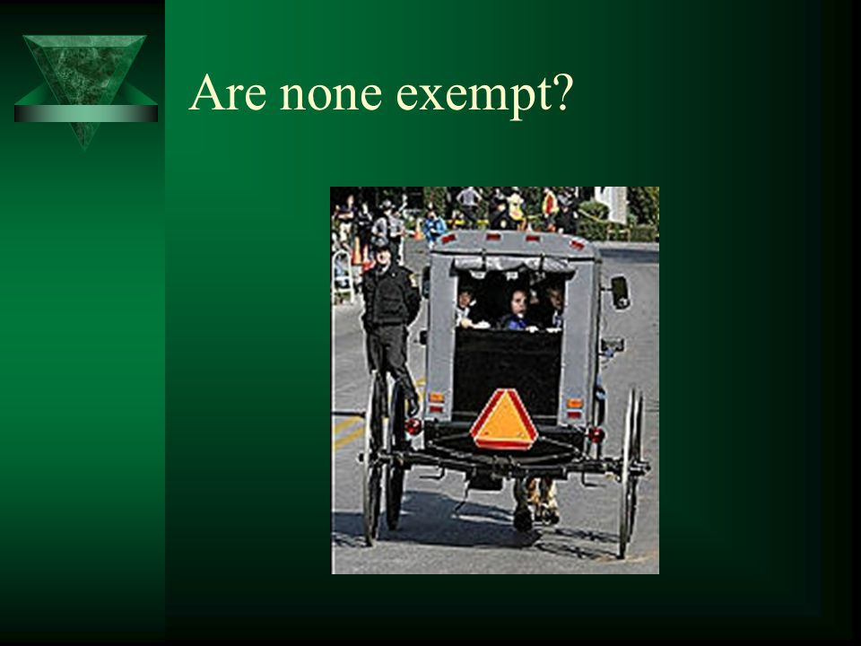 Are none exempt?