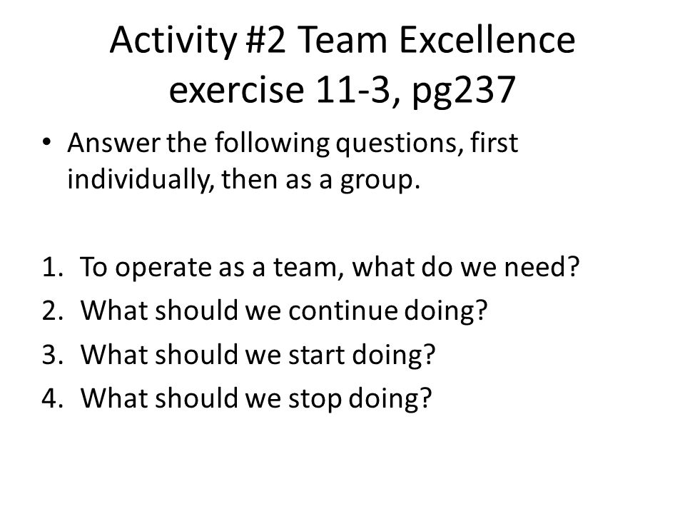 Contd of Activity #2 5.How should we monitor our progress.