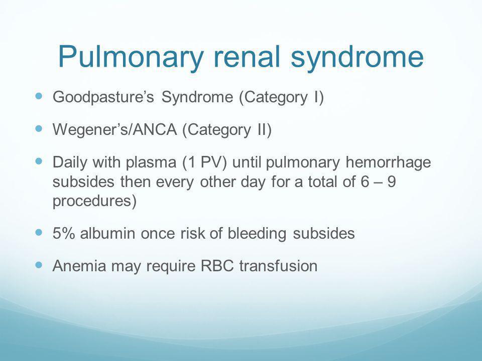 Pulmonary-Renal Syndromes