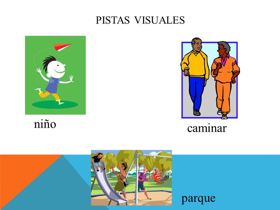 PISTAS VISUALES niño caminar parque
