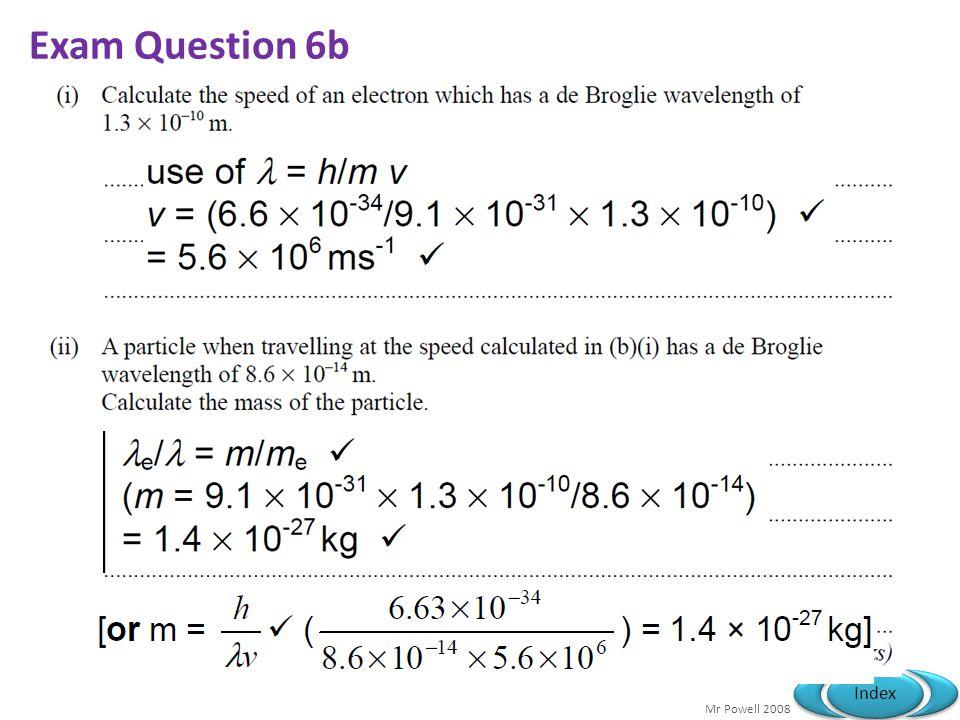 Mr Powell 2008 Index Exam Question 6b