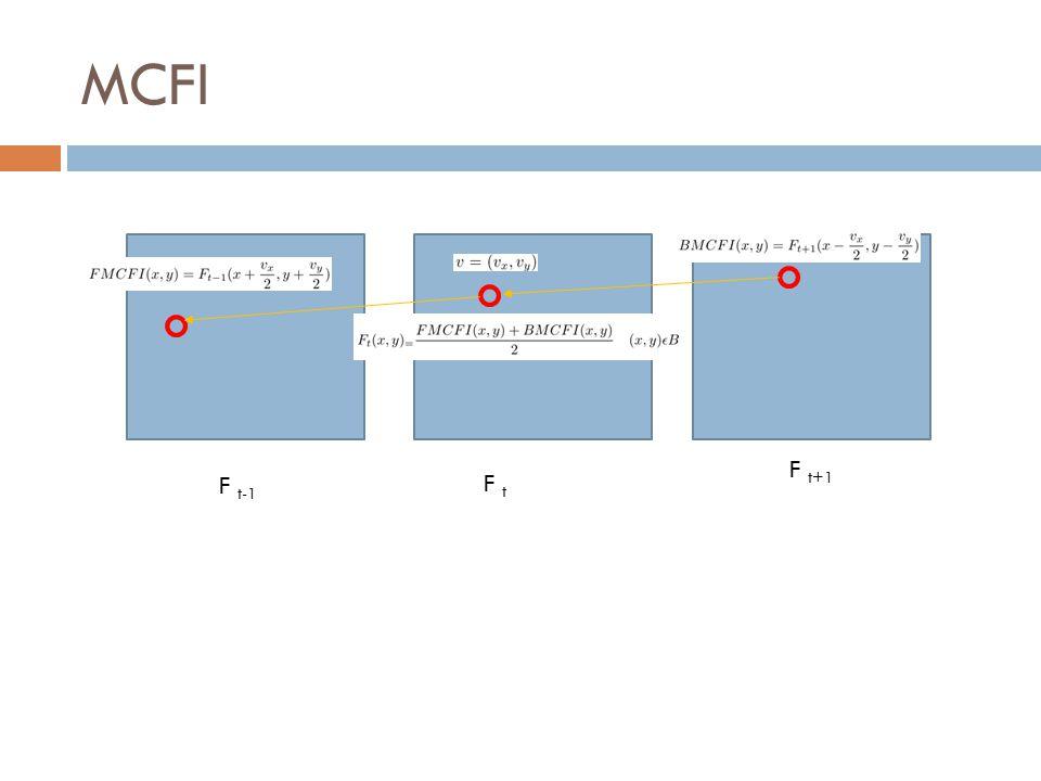 MCFI F t+1 F t F t-1