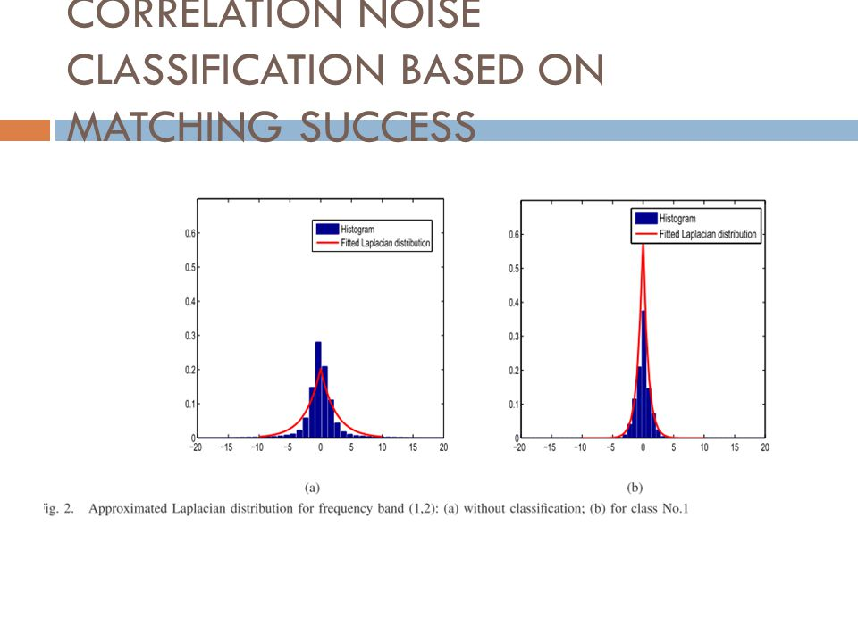 CORRELATION NOISE CLASSIFICATION BASED ON MATCHING SUCCESS