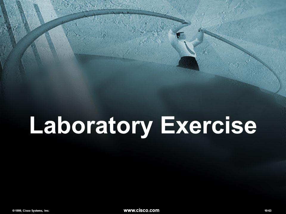 © 1999, Cisco Systems, Inc. www.cisco.com 10-63 Laboratory Exercise