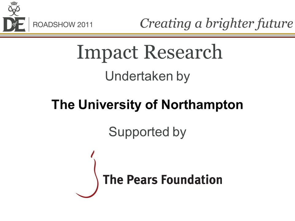 Impact Research Undertaken by The University of Northampton Supported by