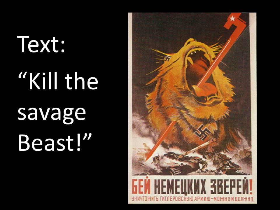 Text: Kill the savage Beast!