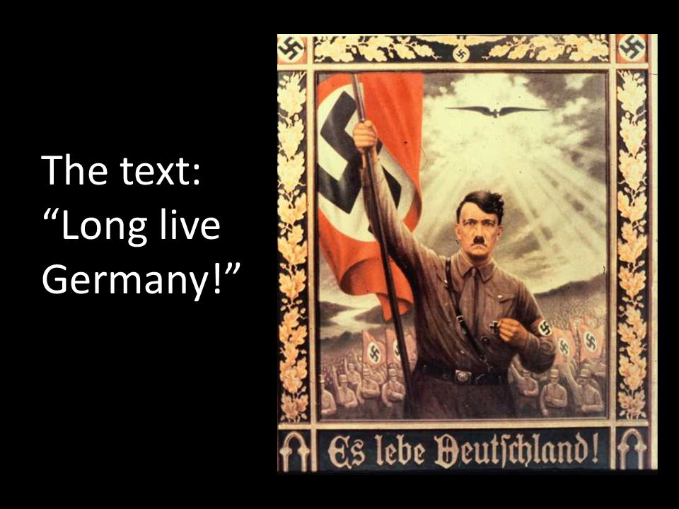 The text: Long live Germany!