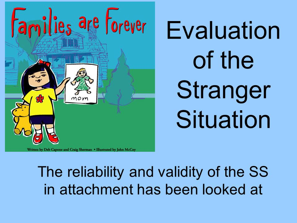 Evaluation of the Stranger Situation The reliability and validity of the SS in attachment has been looked at