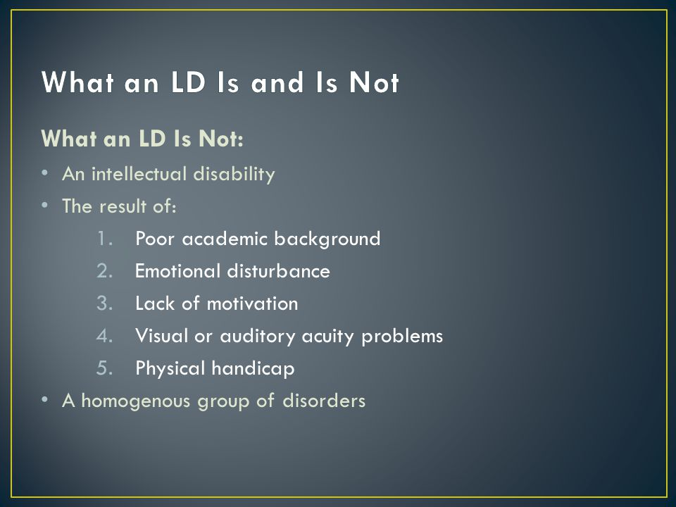 Definition First, it must be established that dyslexia is not a single syndrome.