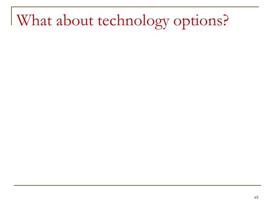 What about technology options 49