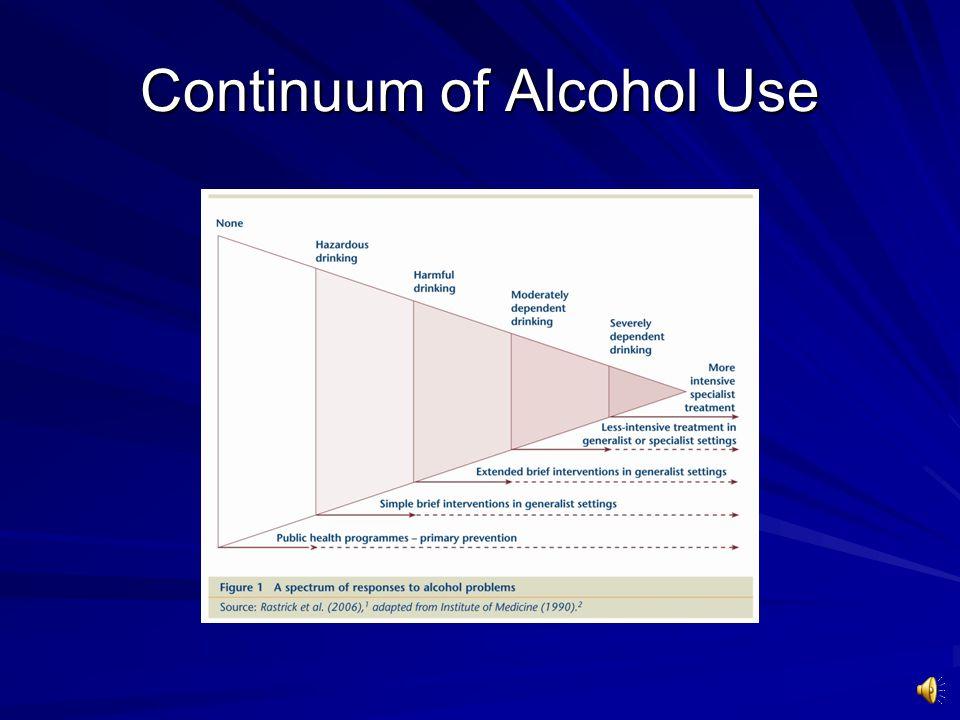 How is alcohol like a chronic disease.