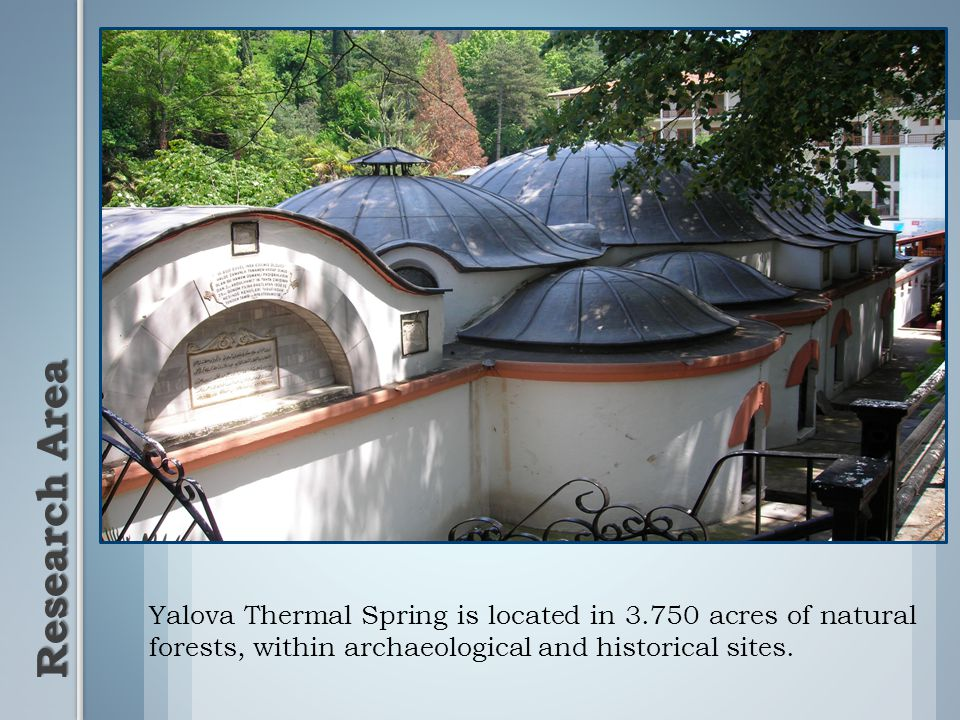 Yalova Thermal Spring is located in 3.750 acres of natural forests, within archaeological and historical sites.