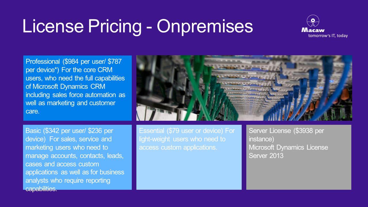 License Pricing - Onpremises