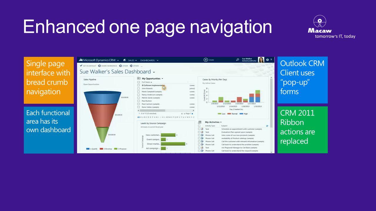 Enhanced one page navigation