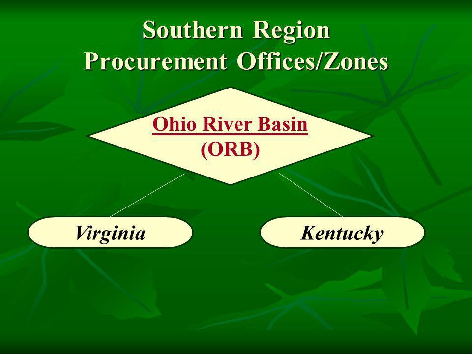 Kentucky Southern Region Procurement Offices/Zones Ohio River Basin (ORB) Virginia
