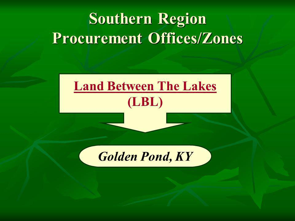 Golden Pond, KY Southern Region Procurement Offices/Zones Land Between The Lakes (LBL)