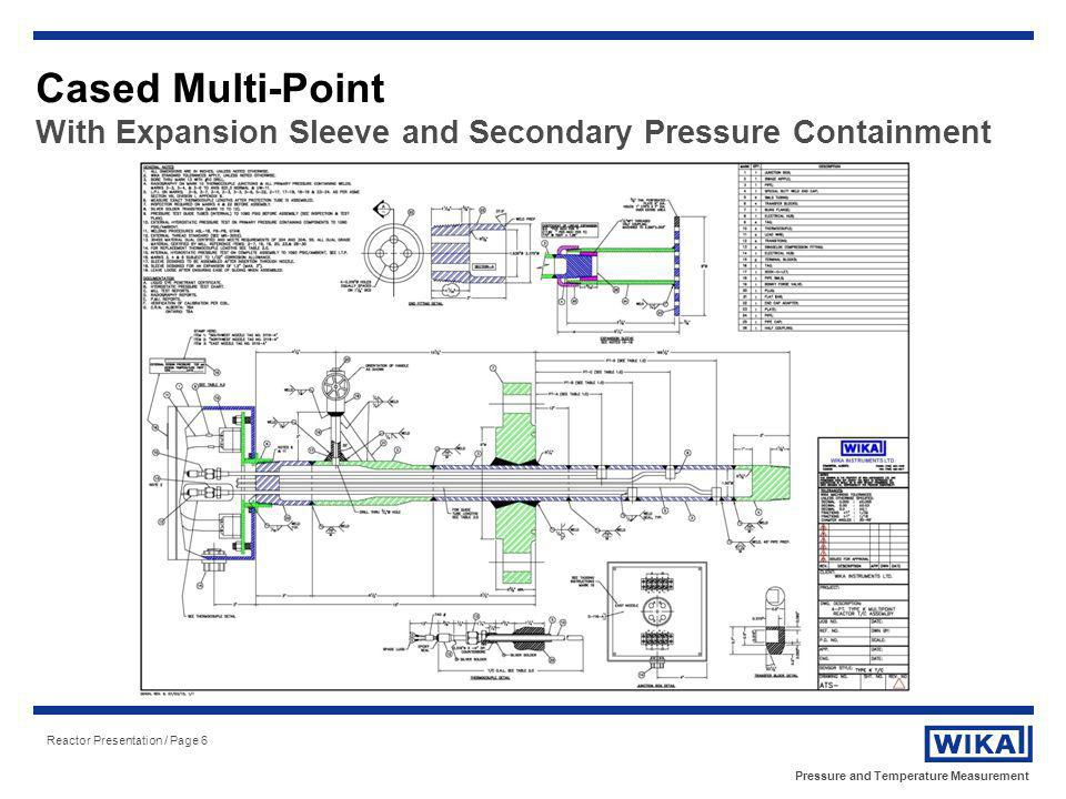 Pressure and Temperature Measurement Reactor Presentation / Page 27 Free-Hanging Multi-Point Support Bracket