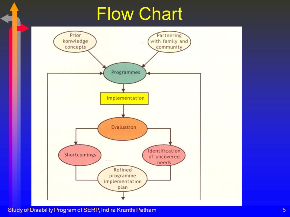 Study of Disability Program of SERP, Indira Kranthi Patham5 Flow Chart