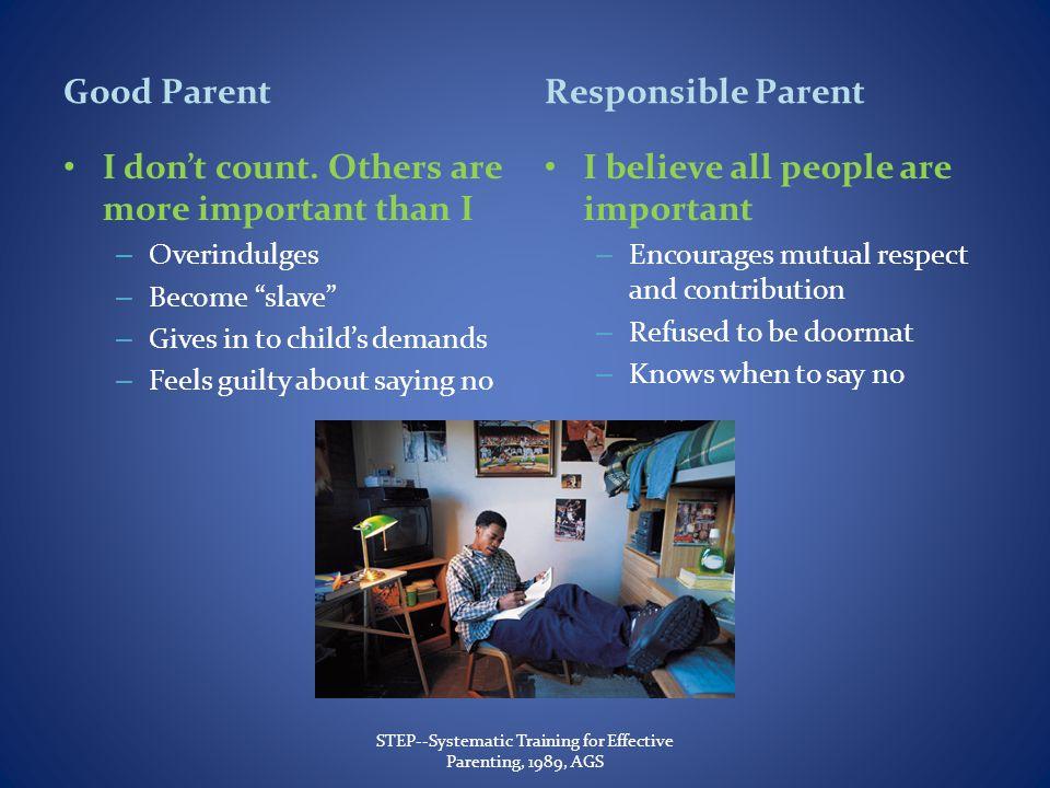 Good Parent I dont count.
