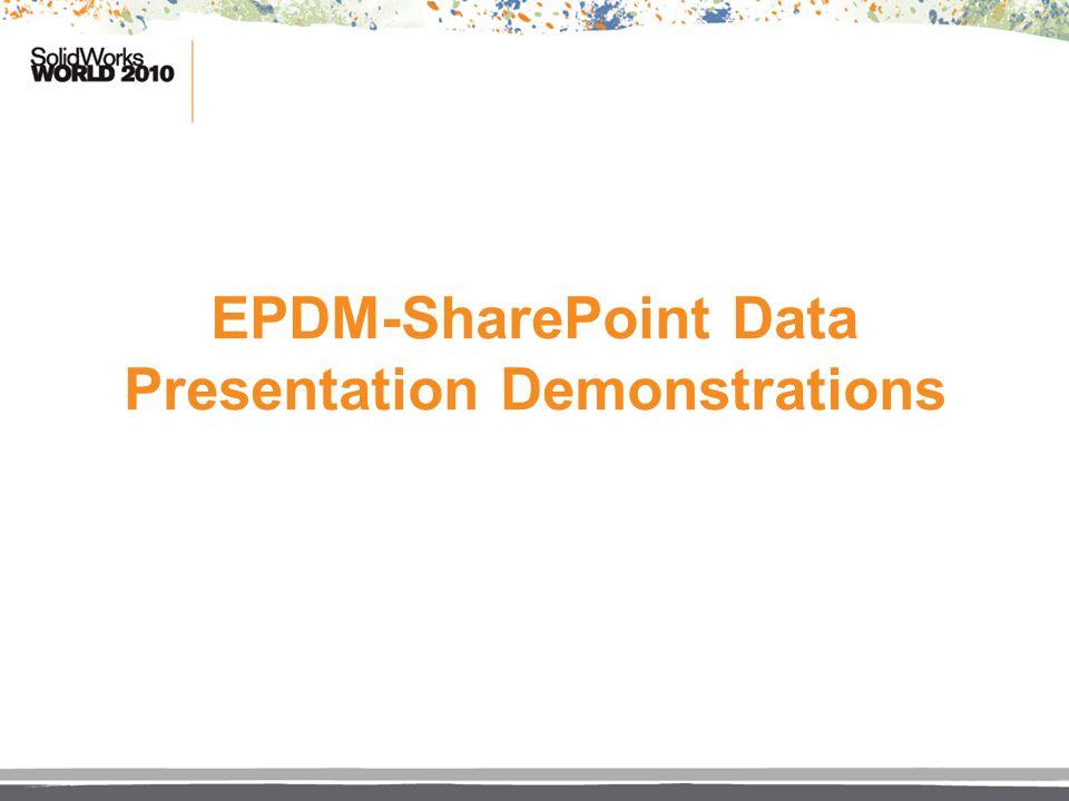 EPDM-SharePoint Data Presentation Demonstrations