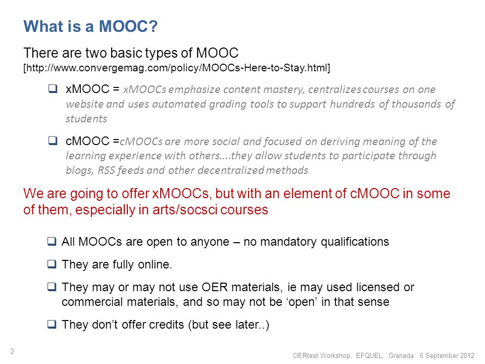 What is a MOOC.