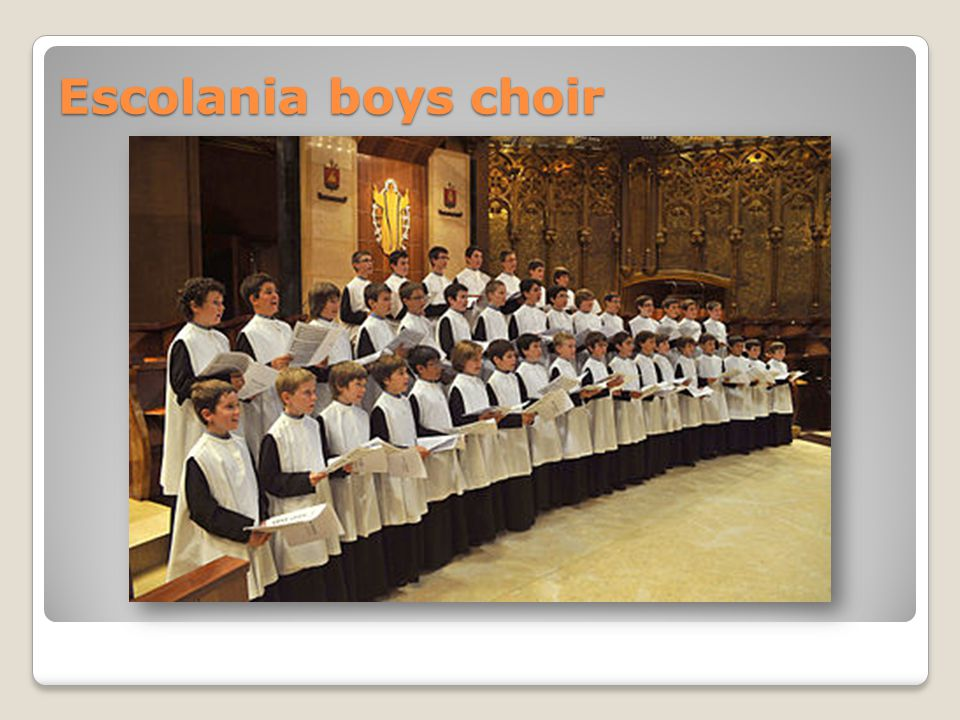 Escolania boys choir