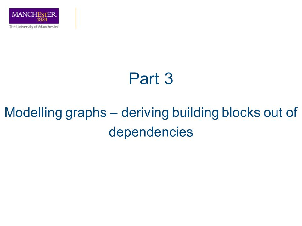 Part 3 Modelling graphs – deriving building blocks out of dependencies