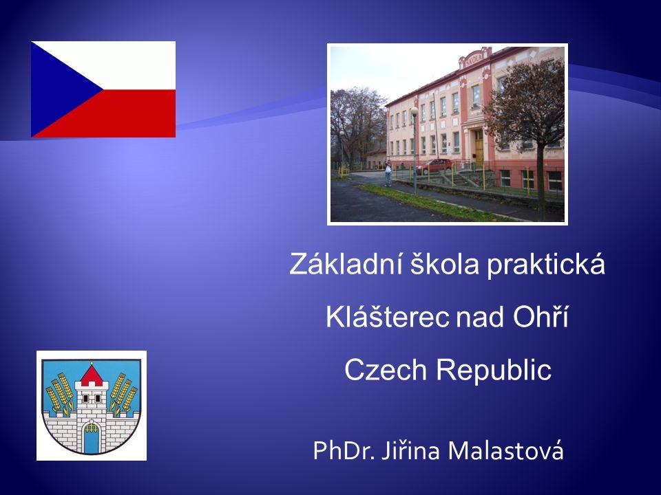 the capital (Prague) and my hometown (Klášterec nad Ohří) are marked Klášterec nad Ohří