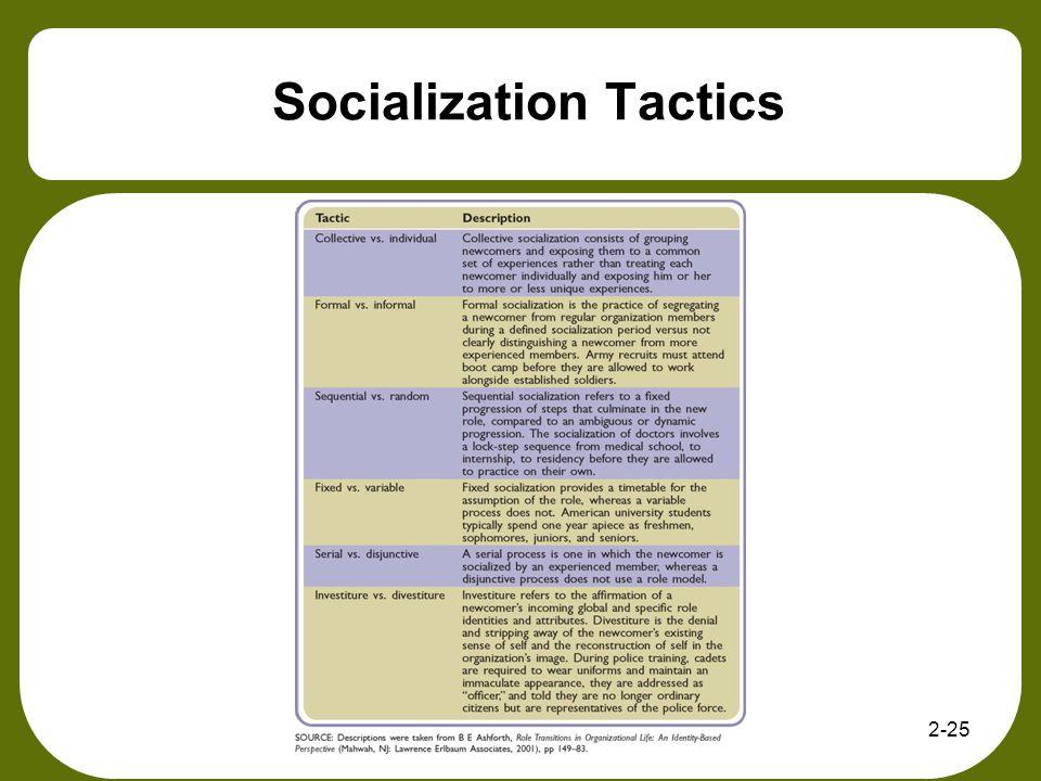 Socialization Tactics 2-25