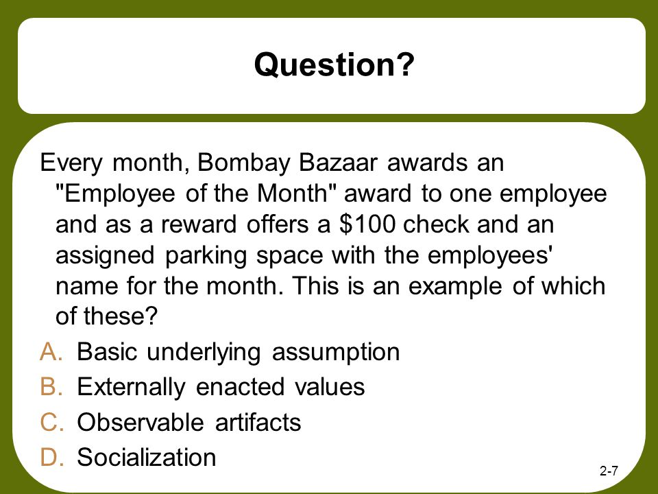 Question? Every month, Bombay Bazaar awards an