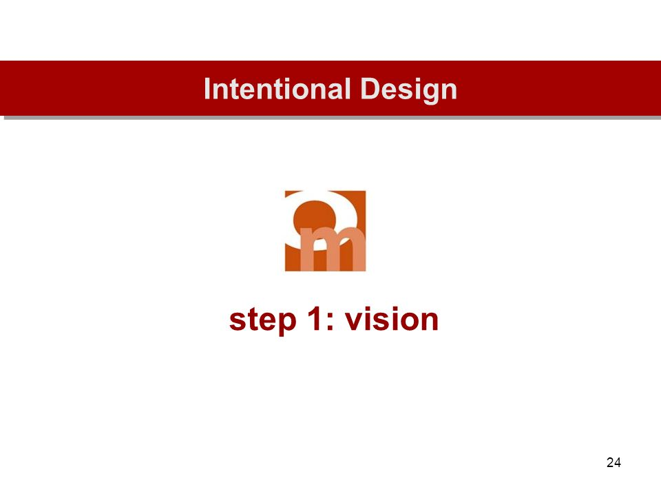 24 step 1: vision Intentional Design
