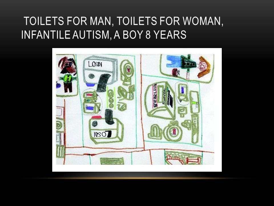TOILETS FOR MAN, TOILETS FOR WOMAN, INFANTILE AUTISM, A BOY 8 YEARS
