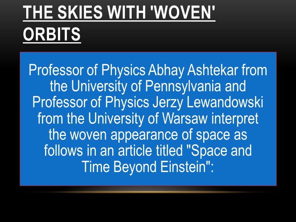 Professor of Physics Abhay Ashtekar from the University of Pennsylvania and Professor of Physics Jerzy Lewandowski from the University of Warsaw inter