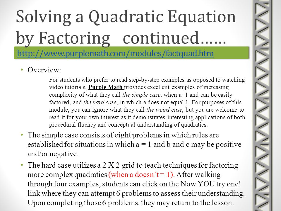 https://www.khanacademy.org/math/algebra/quadratics/completing_the_square/v/solving-quadratic-equations- by-square-roots https://www.khanacademy.org/math/algebra/quadratics/completing_the_square/v/solving-quadratic-equations- by-completing-the-square https://www.khanacademy.org/math/algebra/quadratics/completing_the_square/v/solving-quadratic-equations- by-square-roots https://www.khanacademy.org/math/algebra/quadratics/completing_the_square/v/solving-quadratic-equations- by-completing-the-square https://www.khanacademy.org/math/algebra/quadratics/completing_the_square/v/solving-quadratic-equations- by-square-roots https://www.khanacademy.org/math/algebra/quadratics/completing_the_square/v/solving-quadratic-equations- by-completing-the-square https://www.khanacademy.org/math/algebra/quadratics/completing_the_square/v/solving-quadratic-equations- by-square-roots https://www.khanacademy.org/math/algebra/quadratics/completing_the_square/v/solving-quadratic-equations- by-completing-the-square Overview: Completing the square is a technique used to solve quadratic equations based on the technique of solving equations by taking square roots.