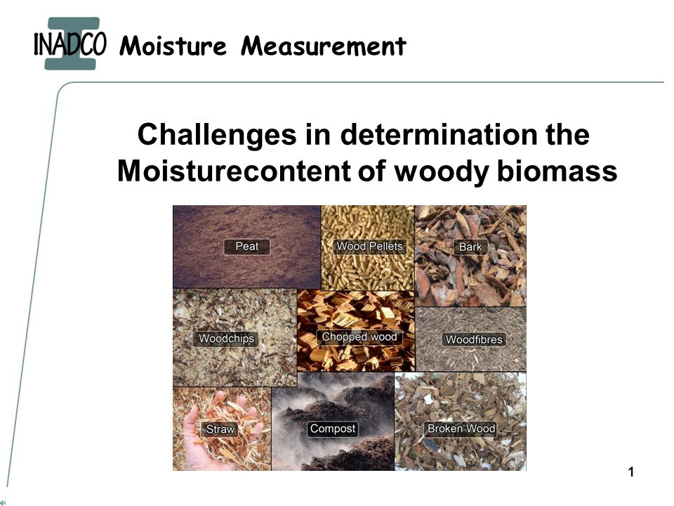 Moisture Measurement 1 Challenges in determination the Moisturecontent of woody biomass