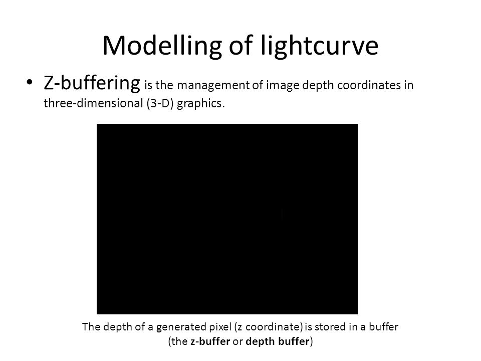 Modelling of lightcurve Z-buffering is the management of image depth coordinates in three-dimensional (3-D) graphics.