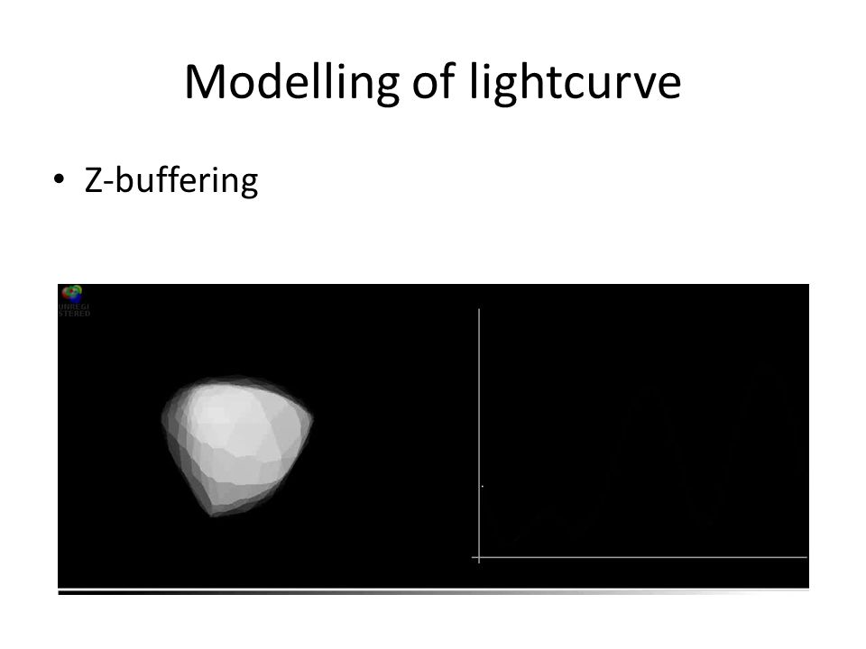 Modelling of lightcurve Z-buffering