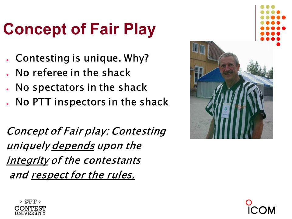Concept of Fair Play Contesting is unique. Why.