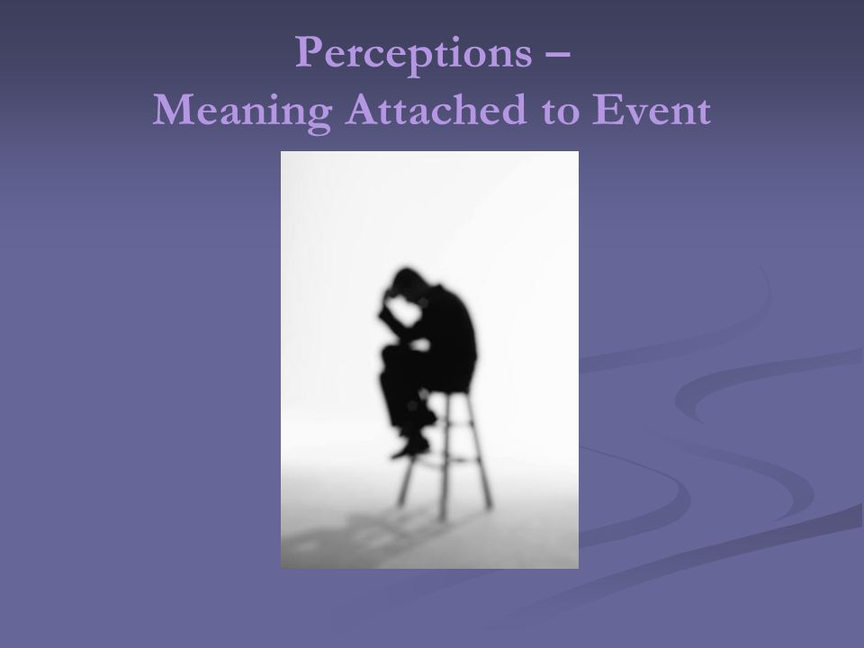 Perceptions – Meaning Attached to Event