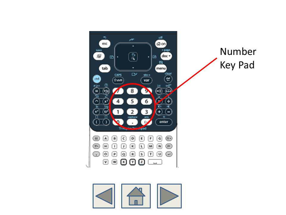 Number Key Pad