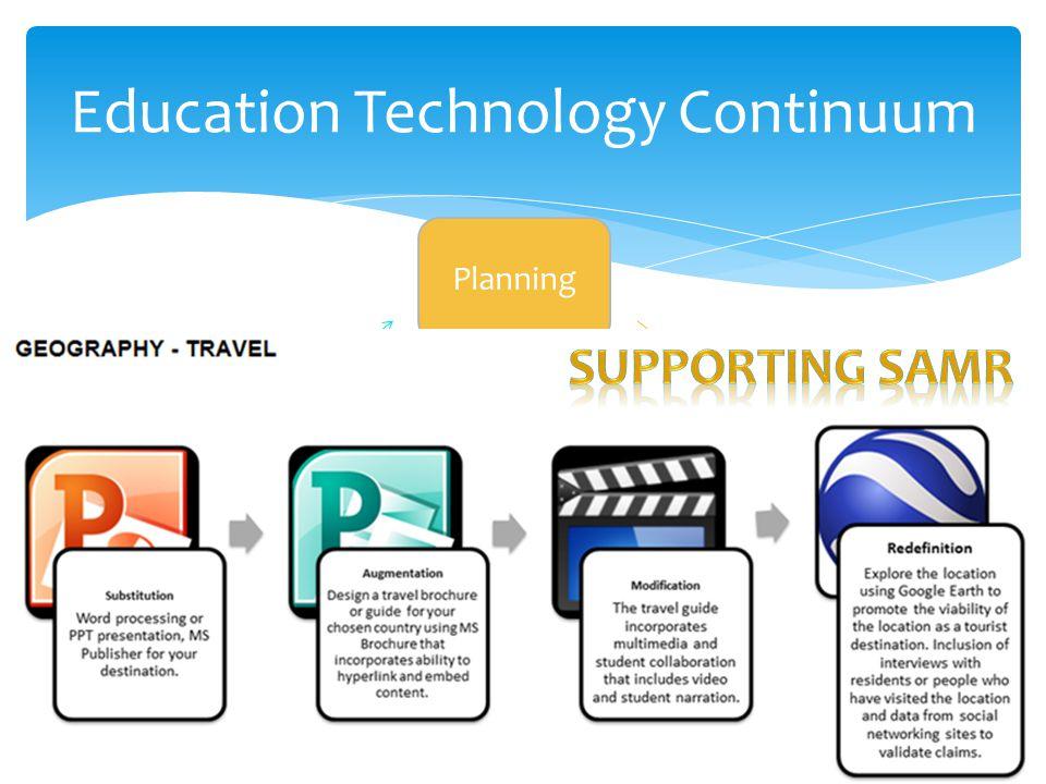 Education Technology Continuum Planning Training Integration Evaluation